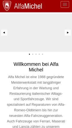 Vorschau der mobilen Webseite alfa-michel.de, Alfa Michel