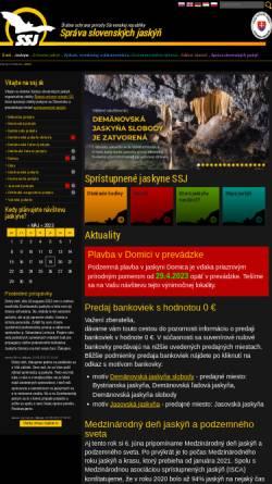 Vorschau der mobilen Webseite www.ssj.sk, Schauhöhlen der Slowakei