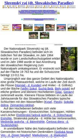 Vorschau der mobilen Webseite www.slovenskyraj.sk, Slowakisches Paradies