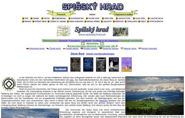 Vorschau von www.spisskyhrad.sk, Zipser Burg (Spišský hrad)