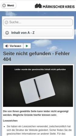 Vorschau der mobilen Webseite www.maerkischer-kreis.de, Burg Altena