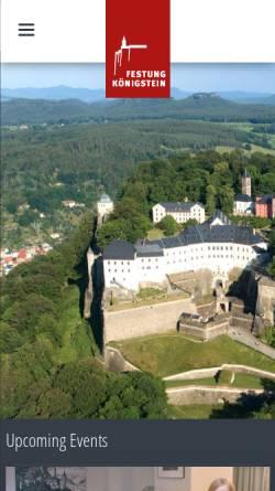 Vorschau der mobilen Webseite www.festung-koenigstein.de, Festung Königstein
