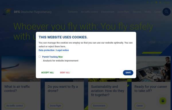 Vorschau von www.dfs.de, Deutsche Flugsicherung GmbH