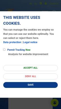 Vorschau der mobilen Webseite www.dfs.de, Deutsche Flugsicherung GmbH