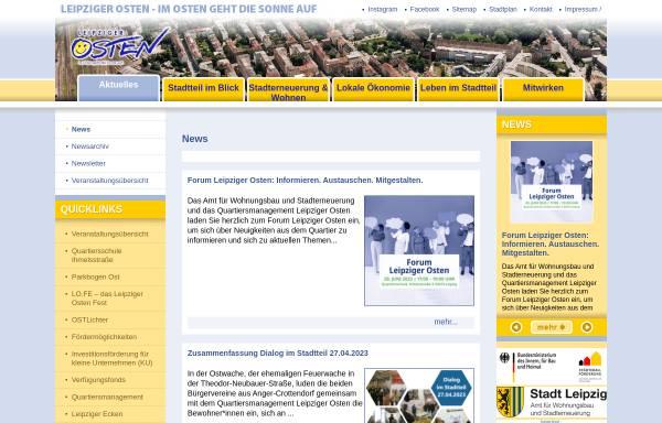 Vorschau von www.leipziger-osten.de, Leipziger Osten - Im Osten geht die Sonne auf