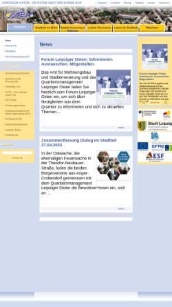 Vorschau der mobilen Webseite www.leipziger-osten.de, Leipziger Osten - Im Osten geht die Sonne auf