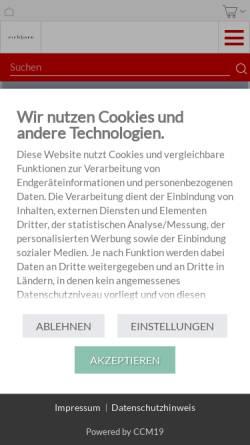 Vorschau der mobilen Webseite www.luebbe.de, Eichborn Verlag