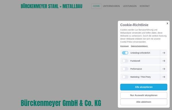 Vorschau von www.buerckenmeyer.de, Bürckenmeyer GmbH & Co. KG