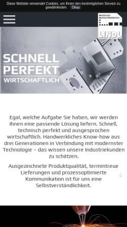 Vorschau der mobilen Webseite www.lindl-metallbau.de, Lindl Metallbau GmbH