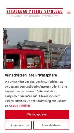 Vorschau der mobilen Webseite stragebau.de, Peters GmbH & Co. KG