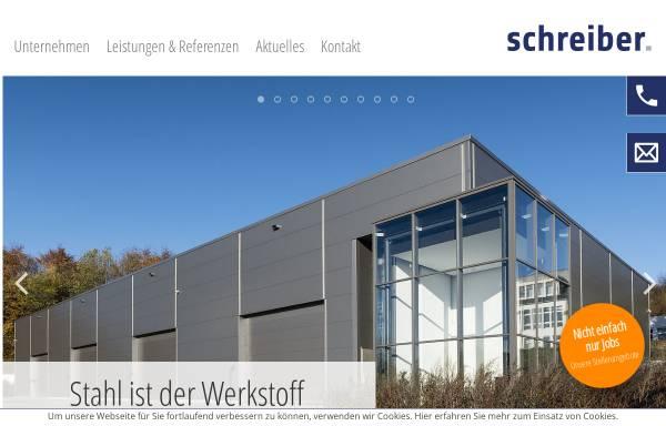 Vorschau von www.schreiberstahlbau.de, Schreiber Stahlbau GmbH