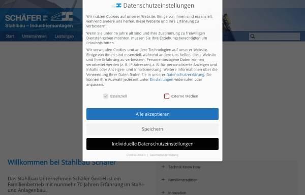 Vorschau von www.stahlbau-schaefer.de, Stahlbau Schäfer GmbH