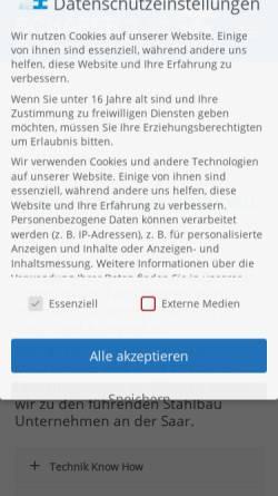 Vorschau der mobilen Webseite www.stahlbau-schaefer.de, Stahlbau Schäfer GmbH