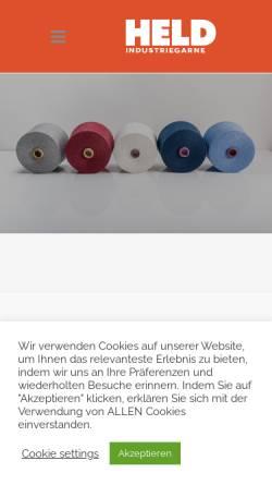 Vorschau der mobilen Webseite www.chrheld.com, Chr. Held & Co KG