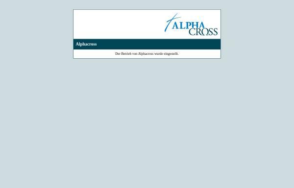 Vorschau von www.alphacross.de, Alphacross - Christen und Gemeinden im Internet