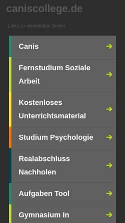 Vorschau der mobilen Webseite www.caniscollege.de, CanisCollege