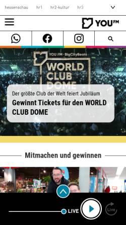Vorschau der mobilen Webseite www.you-fm.de, YOU FM - Charts