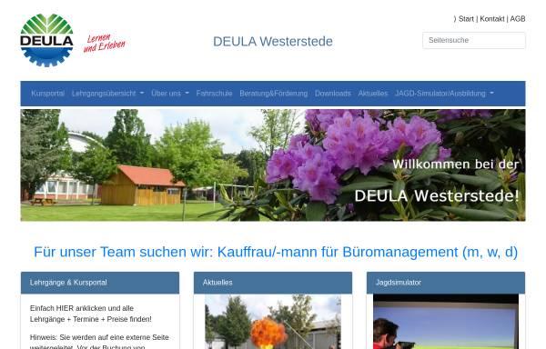 Vorschau von www.deula-westerstede.de, Arbeitsgemeinschaft DEULA e.V.