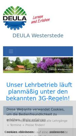 Vorschau der mobilen Webseite www.deula-westerstede.de, Arbeitsgemeinschaft DEULA e.V.