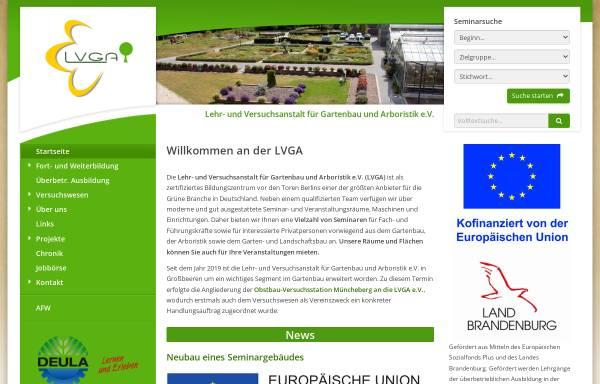 Lehranstalt für Gartenbau und Floristik Großbeeren e.V. [LAGF]: Aus ...
