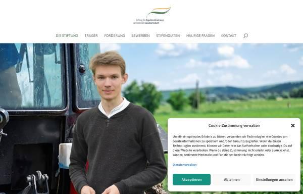 Vorschau von www.stiftung-begabtenfoerderung-agrar.de, Stiftung für Begabtenförderung der deutschen Landwirtschaft