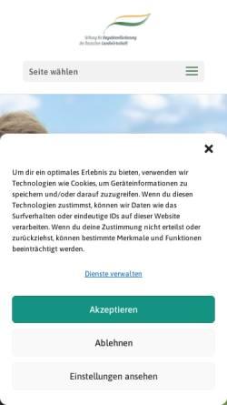 Vorschau der mobilen Webseite www.stiftung-begabtenfoerderung-agrar.de, Stiftung für Begabtenförderung der deutschen Landwirtschaft