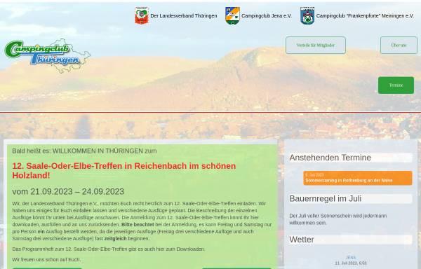 Vorschau von www.campingclub-thueringen.de, Deutscher Camping-Club e.V. Landesverband Thüringen