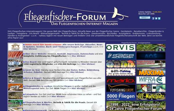 Vorschau von www.fliegenfischer-forum.de, Fliegenfischer-Forum