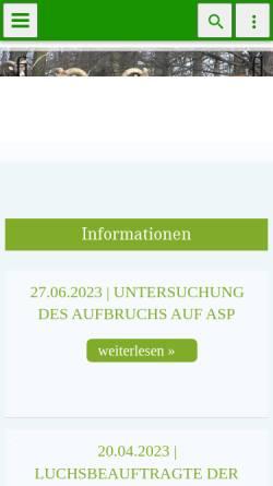Vorschau der mobilen Webseite www.ljv-thueringen.de, Landesjagdverband Thüringen e.V.