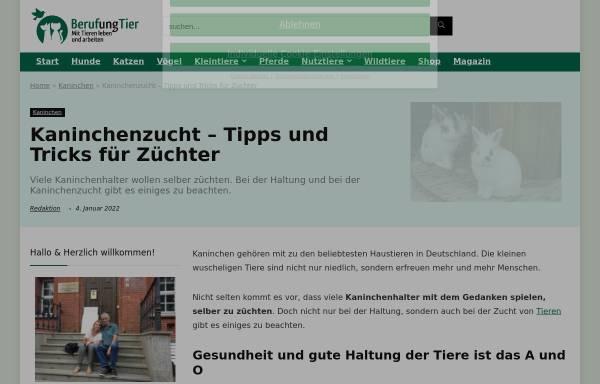 Vorschau von www.lv-kanin-t.de, Landesverband der Thüringer Kaninchenzüchter e.V.