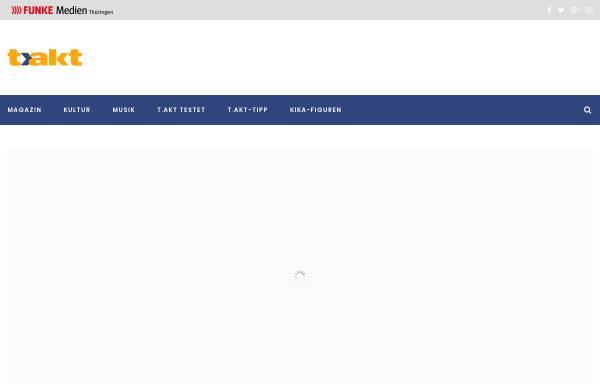 Vorschau von www.takt-magazin.de, t.akt - Kultur- und Freizeitmagazin für Thüringen
