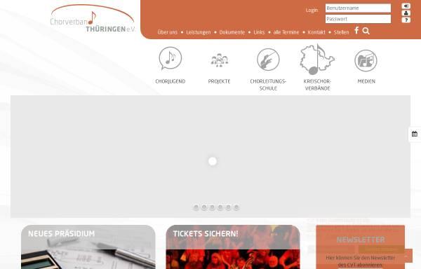 Vorschau von www.thueringersaengerbund.de, Thüringer Sängerbund e.V.