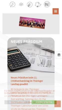 Vorschau der mobilen Webseite www.thueringersaengerbund.de, Thüringer Sängerbund e.V.