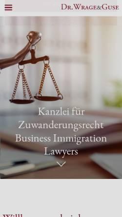 Vorschau der mobilen Webseite www.mwhg.de, Dr. Wrage & Guse
