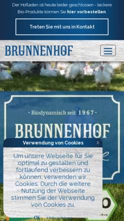 Vorschau der mobilen Webseite www.gefluegelvombrunnenhof.de, Geflügel vom Brunnenhof