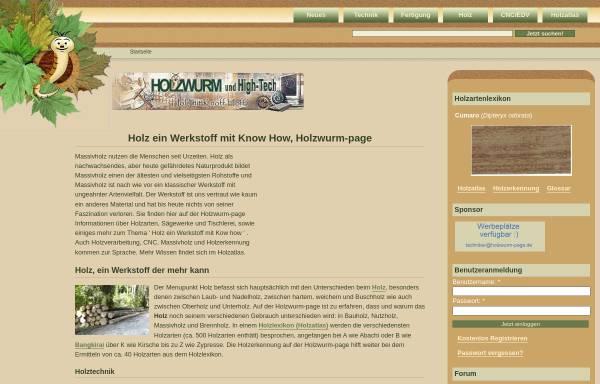 Vorschau von www.holzwurm-page.de, Holzwurm-page