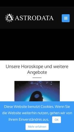 Vorschau der mobilen Webseite www.astrodata.ch, Astrodata
