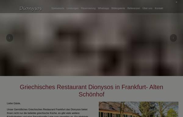 Vorschau von www.dionysos-frankfurt.com, Restaurant Dionysos