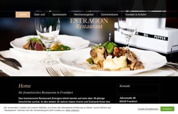 Vorschau von www.estragon-frankfurt.de, Restaurant Estragon