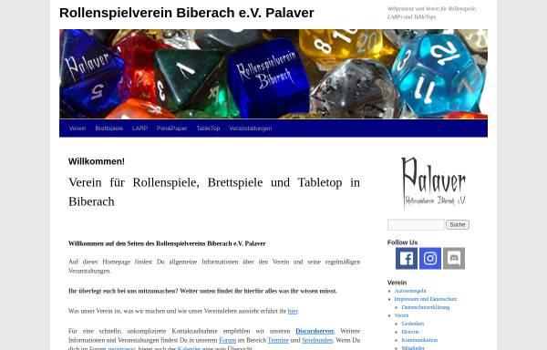 Vorschau von www.rollenspielverein-biberach.de, Rollenspielverein Biberach e.V. Palaver