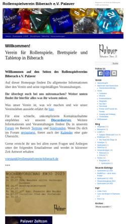 Vorschau der mobilen Webseite www.rollenspielverein-biberach.de, Rollenspielverein Biberach e.V. Palaver