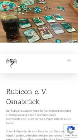 Vorschau der mobilen Webseite www.rubicon-osnabrueck.de, Rubicon e.V. Osnabrück