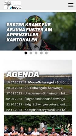 Vorschau der mobilen Webseite www.zksv.ch, Zürcher Kantonal-Schwingerverband