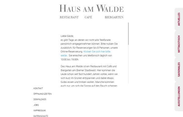 Vorschau von www.hausamwalde-bremen.de, Haus am Walde
