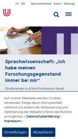 Vorschau der mobilen Webseite www.uni-bremen.de, Orchester und Projektchor der Universität Bremen