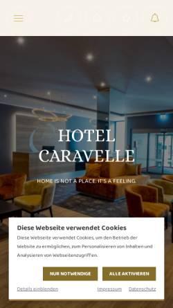 Vorschau der mobilen Webseite www.caravelle-kreuznach.de, Caravelle Hotel