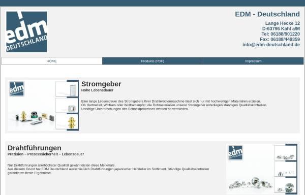 EDM Deutschland in Kahl/Main: Erodieren, Schneiden und Trennen edm ...