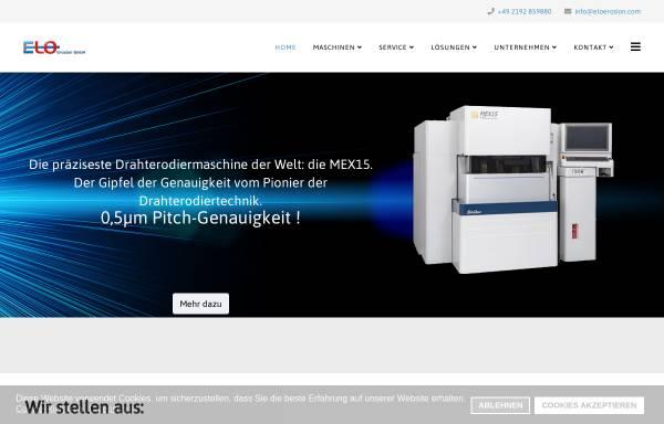Elo-Erosion GmbH in Remscheid: Erodieren, Schneiden und Trennen ...