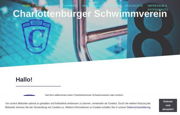 Vorschau von www.csv-berlin.de, Charlottenburger Schwimmverein e.V.