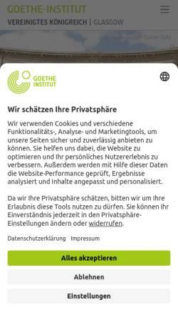 Vorschau der mobilen Webseite www.goethe.de, Goethe-Institut